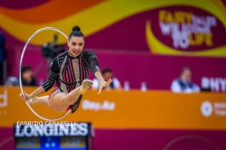 Baku, Azerbaijan - 09/19/2019: FIG Rhythmic Gymnastics World Championships 2019 Baku (AZE) - Italy Group