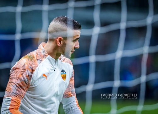 Jaume Domenech Valencia CF during the Champions League 2019/20 match between Atalanta BC vs Valencia CF at the San Siro Stadium, Milan, Italy on February 19, 2020 - Photo Fabrizio Carabelli