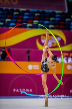 Baku, Azerbaijan - 09/19/2019: FIG Rhythmic Gymnastics World Championships 2019 Baku (AZE) - Bolataeva (GEO)