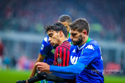 Lucas Paqueta of AC Milan during the Serie A match between AC Milan and US Sassuolo at the San Siro Stadium, Milan, Italy on 15 December 2019 - Photo Fabrizio Carabelli