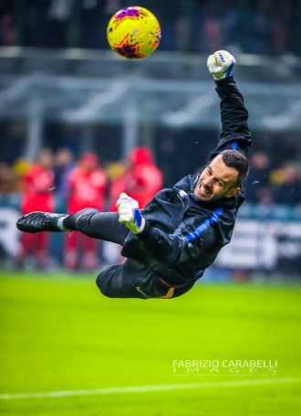 Samir Handanovic of FC Internazionale during the Serie A match between FC Internazionale and Atalanta BC at the San Siro Stadium, Milan, Italy on 11 January 2020 - Photo Fabrizio Carabelli
