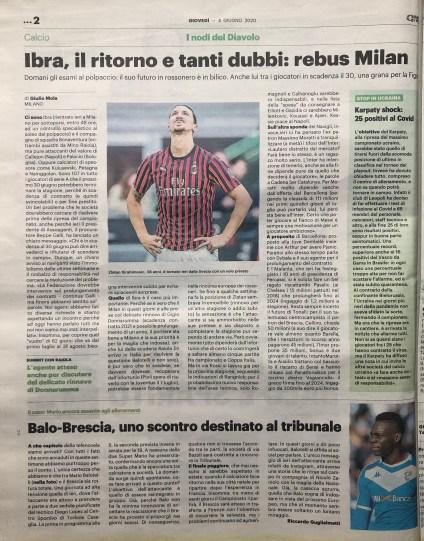 Pubbl. 04_06_2020 IL GIORNO Ibrahimovic FCI_3891