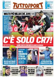 Pubbl. 14_02_2020 Tuttosport (giornale) PRIMA PAGINA Eriksen FCI_7505