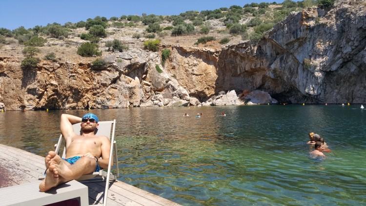 Jezioro Vouliagmeni Grecja