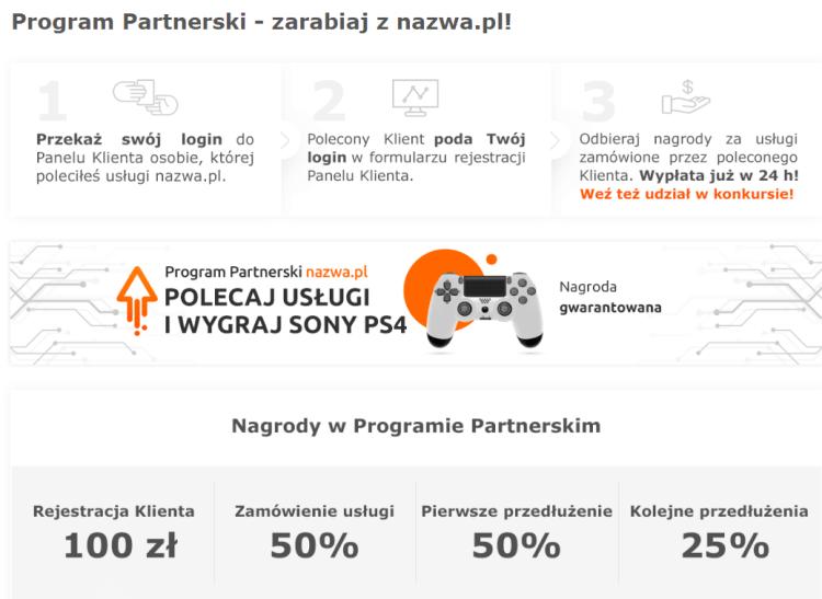 jak zarabiać przez internet: program partnerski nazwa.pl