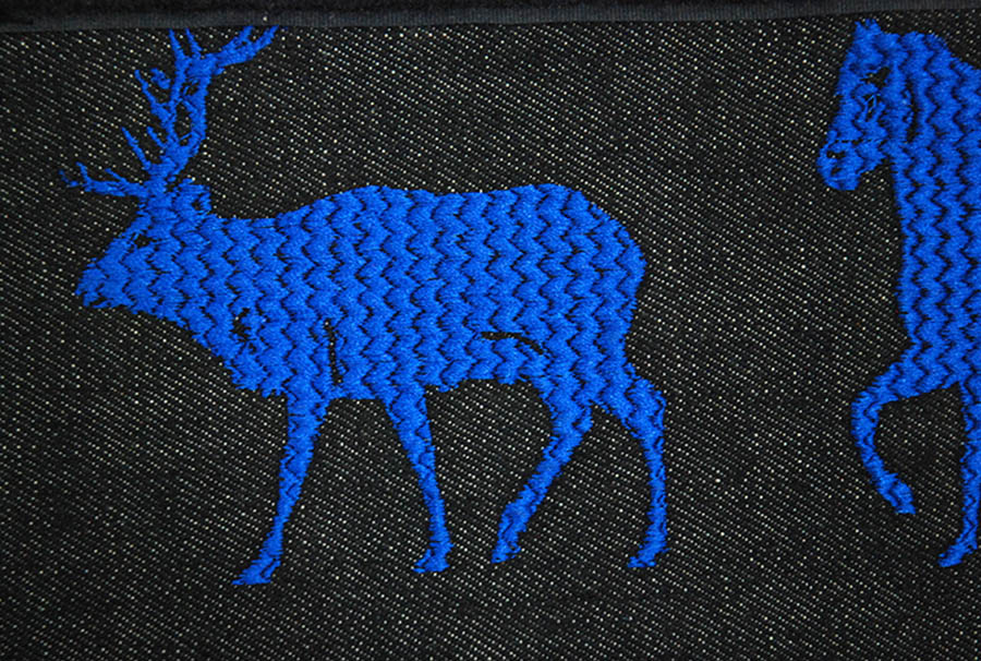 laptop case embroidery  closeup