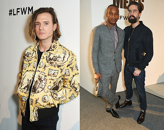LONDON, ENGLAND - JANUARY 07: Dougie Poynter attends the Oliver Spencer AW17 Catwalk Show during London Fashion Week Men's January 2017 at the BFC Show Space on January 7, 2017 in London, England. Pic Credit: Dave Benett