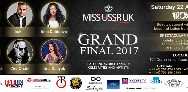 5th Anniversary of GRAND FINAL MISS USSR UK 2