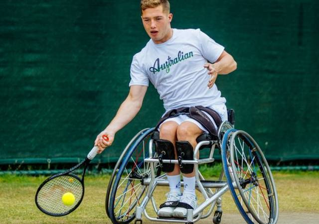 Australian l'Alpina sponsor French open WHEELCHAIR SINGLES and wimbledon doubles champion alfie hewett