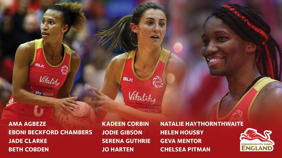 Team England Confirm Netball squad for 2018 Commonwealth Game