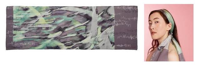 Lucy hall design forest silk scarf