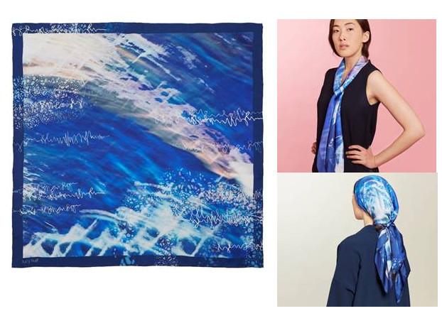 Lucy hall design marine silk scarf