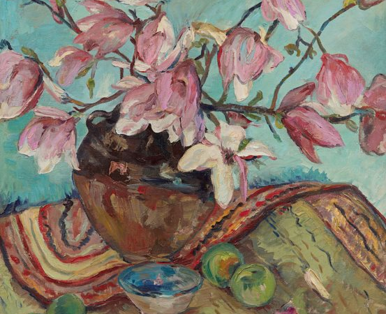 Still life with magnolias