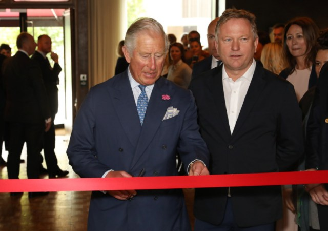 West city house royal visit (darren gerrish, british fashion council)