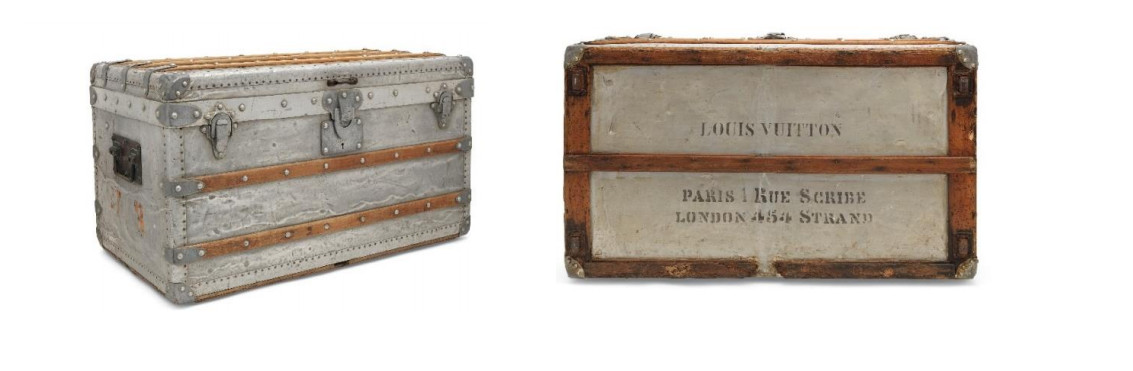 cce25509699e A rare aluminium explorer trunk, louis vuitton, 1892