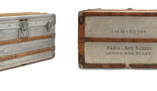 A rare aluminium explorer trunk, louis vuitton, 1892