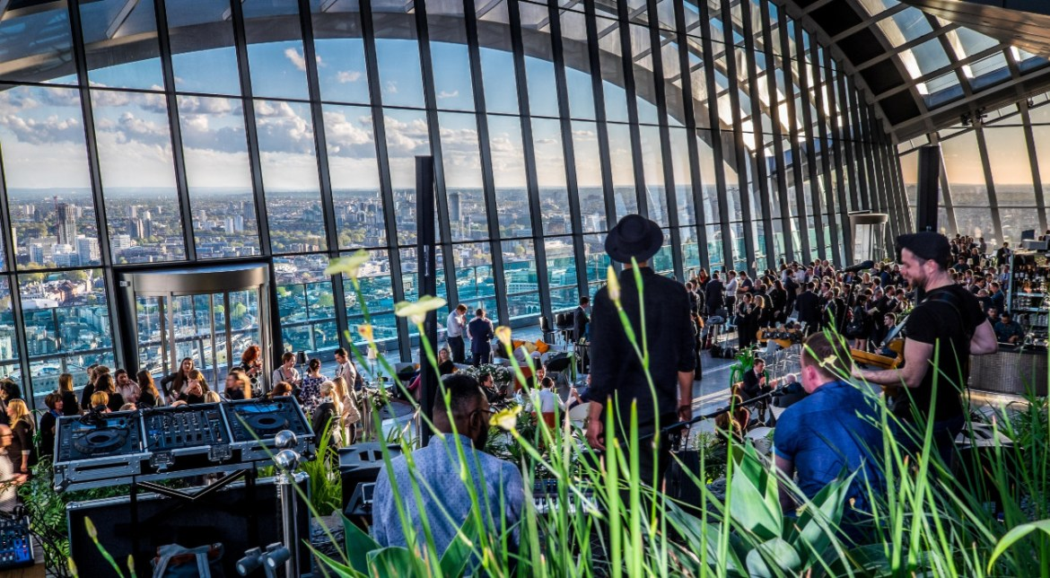 Studio 54 party at sky garden