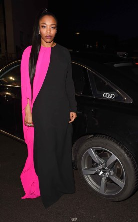Naomi ackie arrives in an audi at the ee british academy film awards at the royal albert hall, london, sunday 10 february 2019