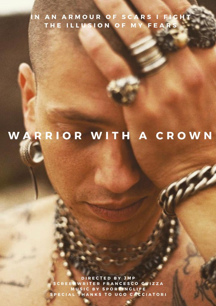 Warrior with a crown poster
