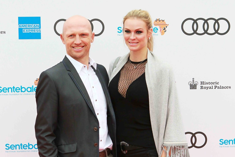 Matt Dawson and Carolin Hauskeller arrive at the Audi Sentebale