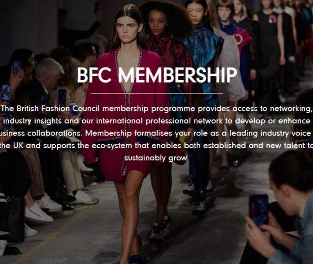 British fashion council announces launch of new membership programme