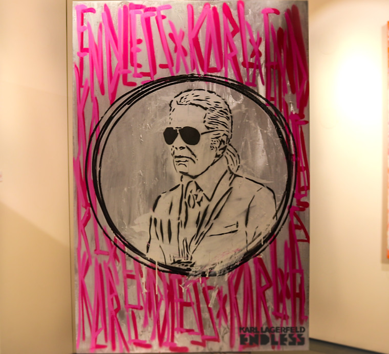 British street artist endless and iconic fashion house karl lagerfeld