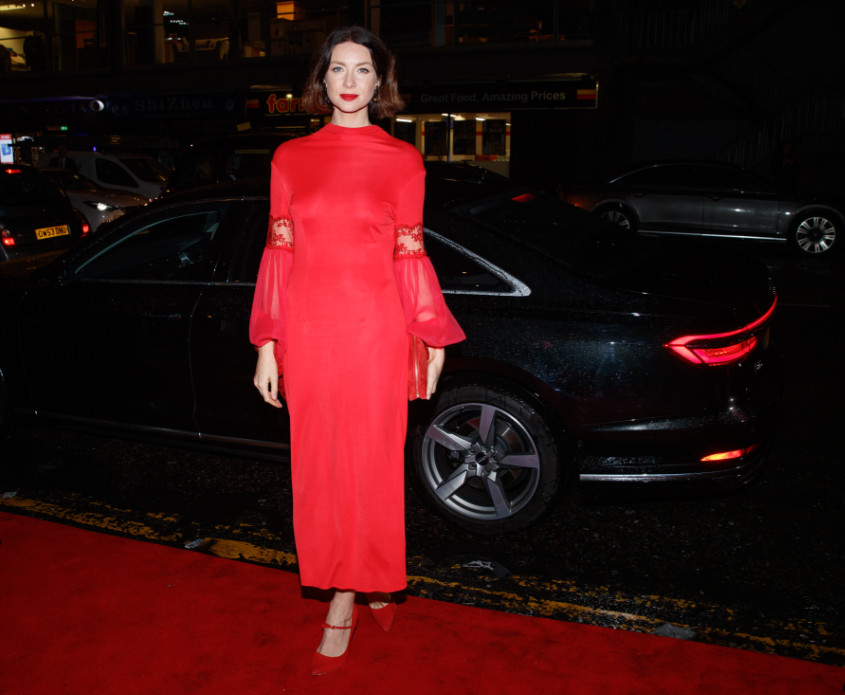 Caitriona balfe arrives in an audi at the british academy scotland awards 2019, glasgow, sunday 03 november 2019