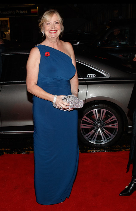 Carol kirkwood arrives in an audi at the british academy scotland awards 2019, glasgow, sunday 03 november 2019