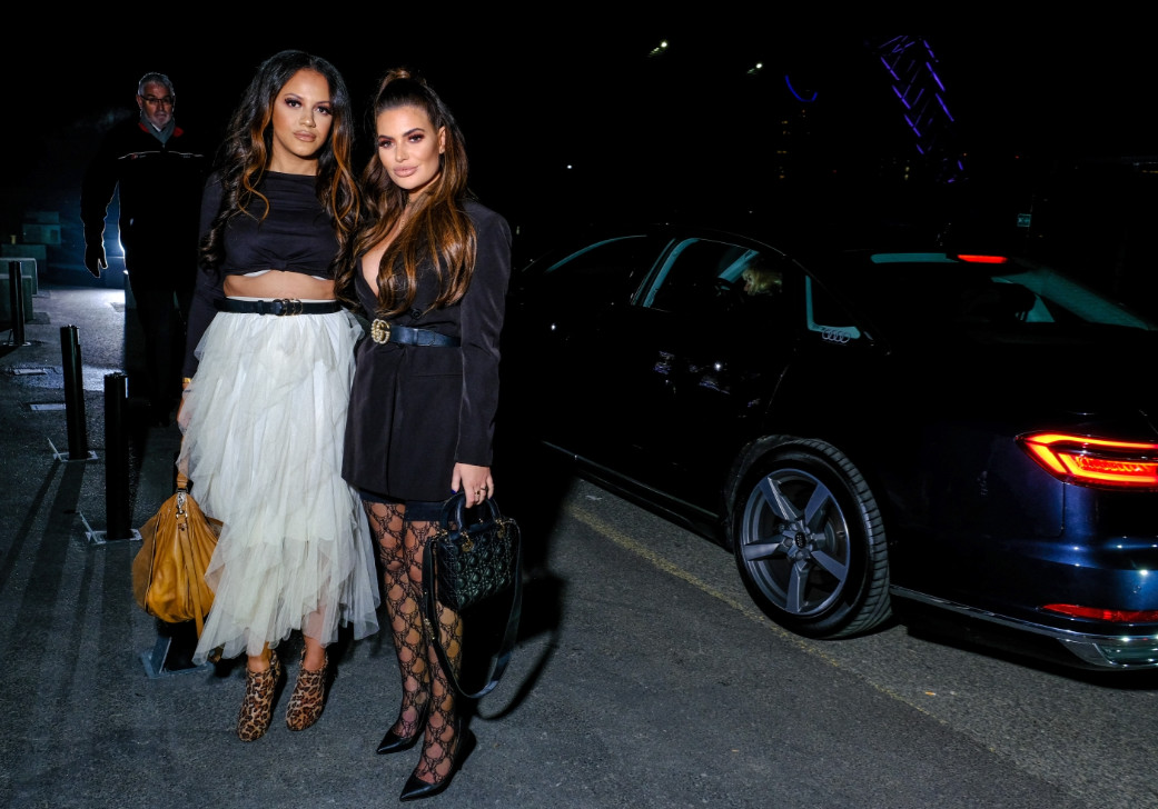 Megan barton hanson and guest arrive in an audi at the gay times honours 500 at magazine london on thursday 21 november 2019