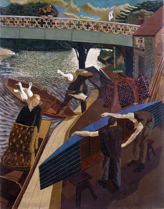 Swan upping at cookham Stanley Spencer Gallery