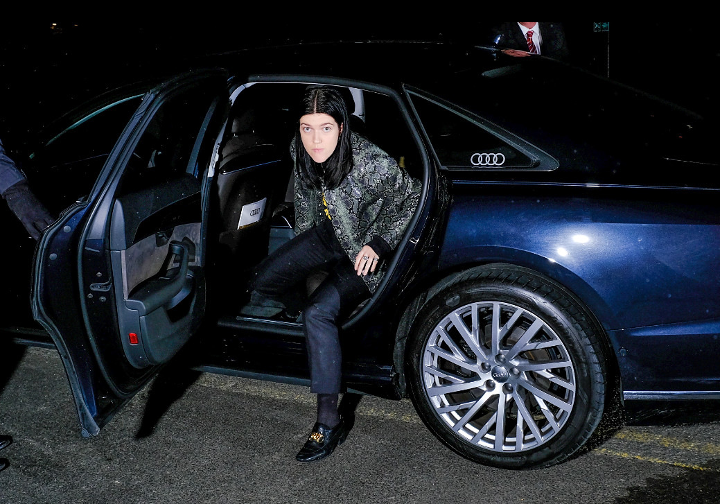Romy hadley arrives in an audi at the gay times honours 500 at magazine london on thursday 21 november 2019