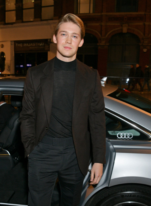 Joe alwyn arrives in an audi at the british independent film awards at old billingsgate, london, on sunday 01 december 2019 (2)