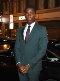 Damson idris arrives in an audi at the vanity fair ee bafta rising star party at the standard, london, wednesday 22 january 2020