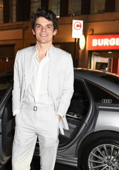 Edward bluemel arrives in an audi at the vanity fair ee bafta rising star party at the standard, london, wednesday 22 january 2020