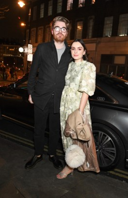 Liv purvis & joe galvin arrive in an audi at the vanity fair ee bafta rising star party at the standard, london, wednesday 22 january 2020