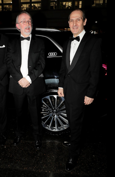 Peter lord & david sproxton arrive in an audi at the london critics' circle film awards, the may fair hotel, london, thursday 30 january 2020