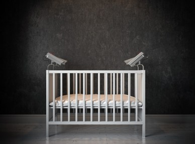 Baby cribs camera render