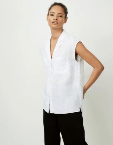 The white company linen shirt
