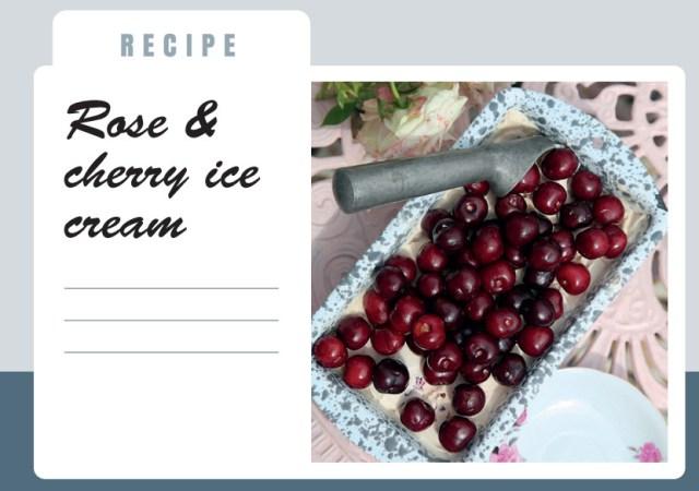 Spanish picota cherry and rose gelato