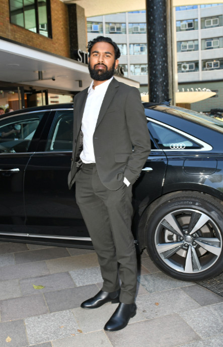 Himesh patel arrives in an audi at the virgin media british academy television awards 2020 at television centre, london, friday 31 july 2020 (3)