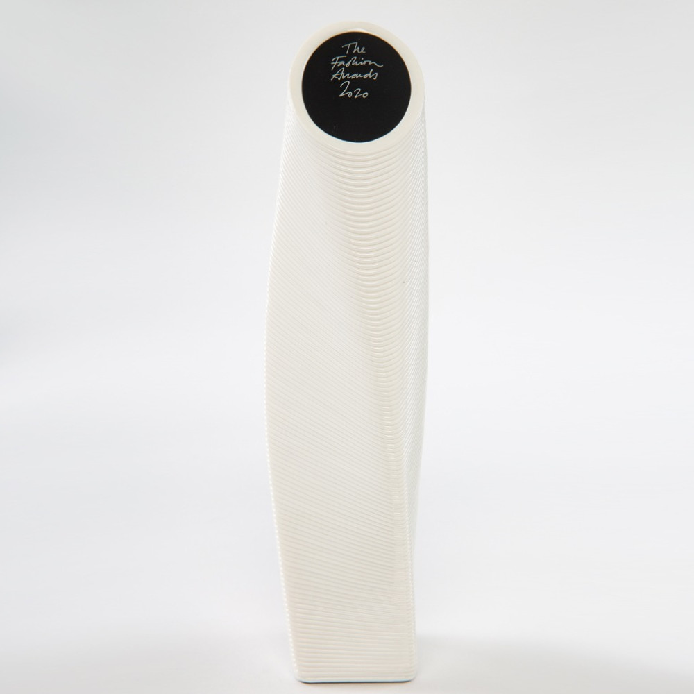 The fashion awards 2020 trophy designed by parley for the oceans