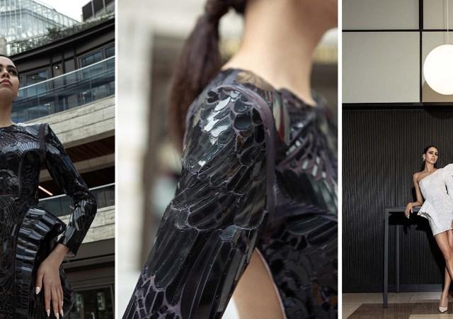 Fashion graduate's zero waste 3d print collection showcased at london fashion week