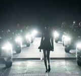 Coperni aw21 first ever 'drive in' runway at paris fashion week