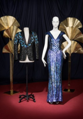 The butterfly jacket for mick jagger and sequined evening gown