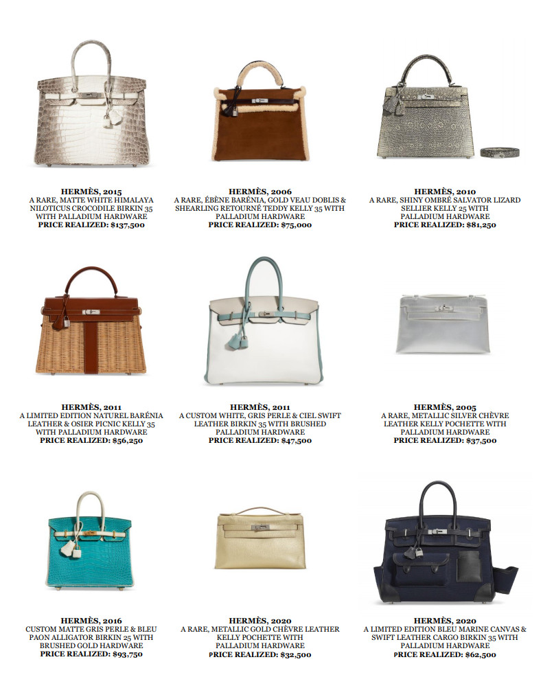 Christie's new york online sale of handbags & accessories