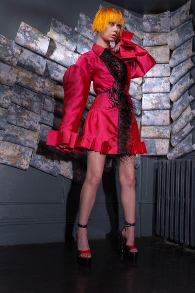 Karina bondareva springsummer 2021 during london fashion week (6)
