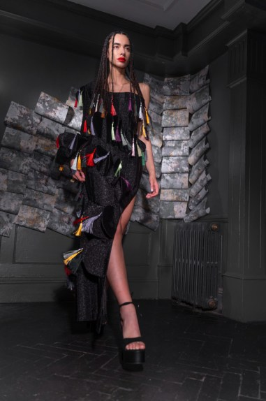 Karina bondareva springsummer 2021 during london fashion week (7)