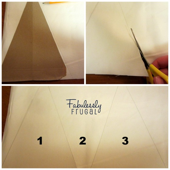 Tracing and Cutting Pennants