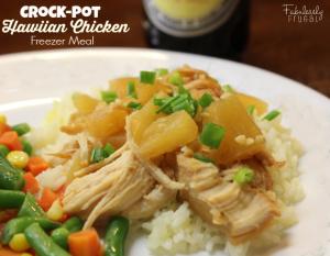Crock Pot Hawaiian Chicken Freezer Meal Recipe
