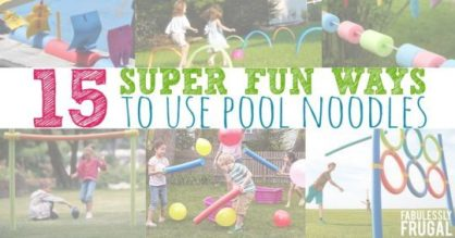 Fun ways to use pool noodles